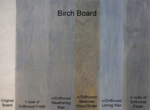 Driftwood Weathered Wood Finish Sample applications of Driftwood Products