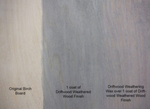 Driftwood Weathering Wax Sample Board