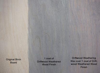 Driftwood Weathering Wax on Birch