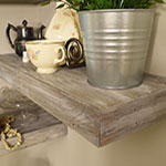 Driftwood Weathering Wood Finish and Liming Wax on Shelf
