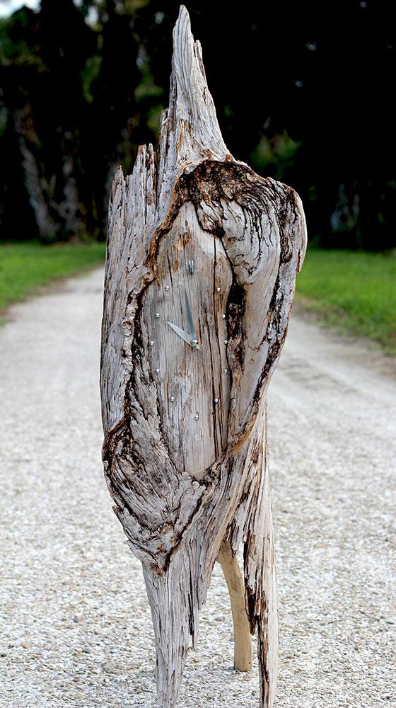 Driftwood clock -09