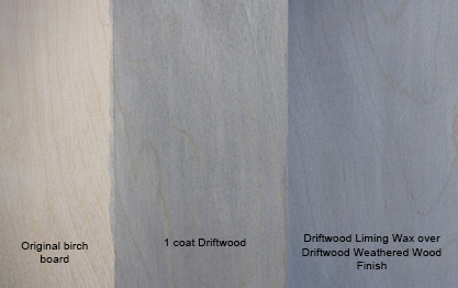 Driftwood Liming Wax Sample Board