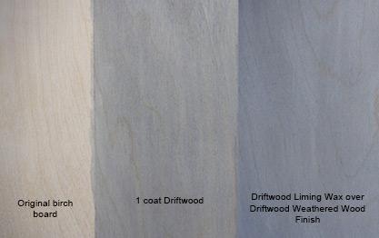 Driftwood Liming Wax Sample Board