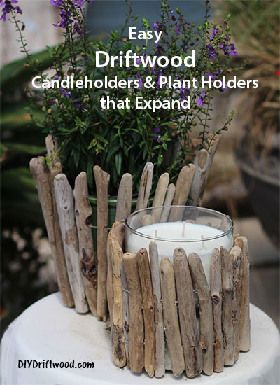 Driftwood Candleholder and plant holder