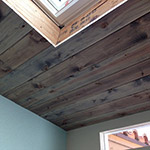 Driftwood Weathered Wood Finish on ceiling