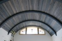 Ceiling using Driftwood Weathering Wood Finish