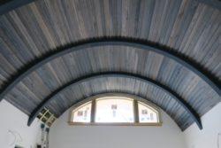 Ceiling using Driftwood Weathering Wood Finish