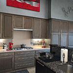 kitchen cabinets refinished with Driftwood Weathering Wood Finish