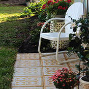 Stenciled Patio Pavers