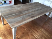 Driftwood Weathered Wood Finish onTeak table
