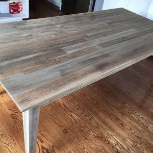 Driftwood Weathered Wood Finish onTeak table