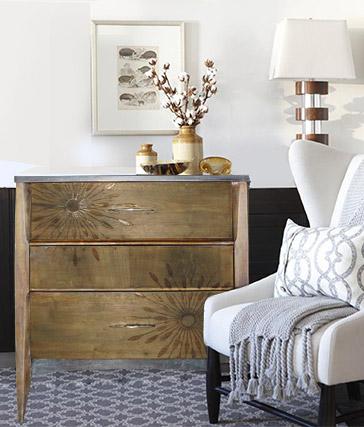 Driftwood Mid-century modern dresser