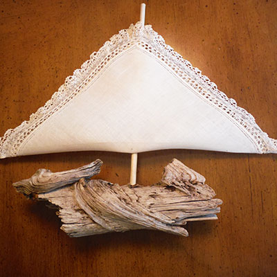 Driftwood Sailboat