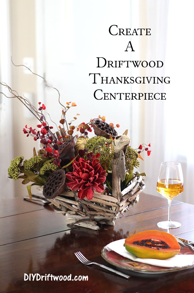 Driftwood Thanksgiving Centerpiece