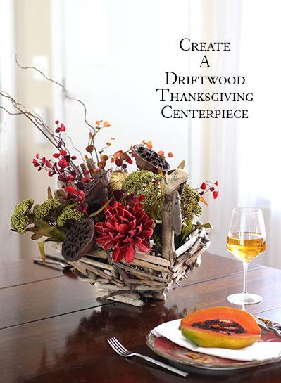 Driftwood Turkey Thanksgiving Centerpiece