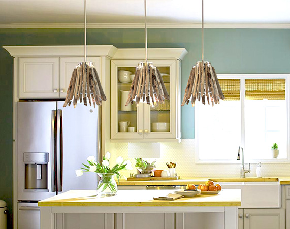 driftwood pendant light shade