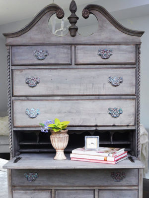 Driftwood Highboy Refinishing Project