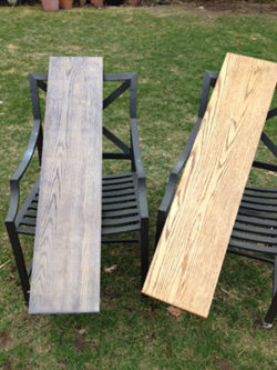 Driftwood Weathered Wood Finish on oak