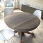 Driftwood Weathered Wood Finish on oak table