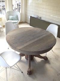 Driftwood Weathered Wood Finish on oak table