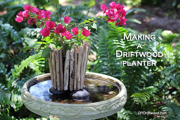Driftwood Planter and candleholder